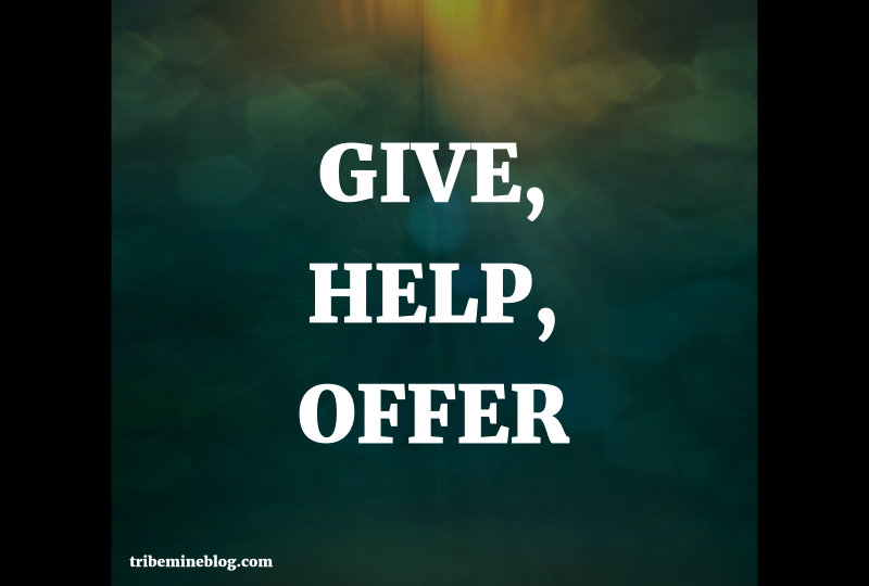 give, help, offer
